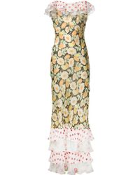 Duro Olowu Daisy Print Ruffled Dress multicolor - Lyst