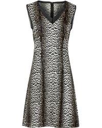 Reiss Stella Animal Printed Silk Dress - Multicolour