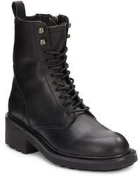 Ash Styx Leather Combat Boots - Lyst