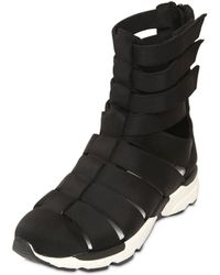 Jeffrey Campbell - 20mm Nylon High Top Cage Sneakers - Lyst
