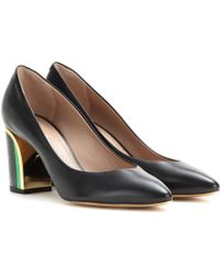 Chloé Becky Leather Pumps - Lyst