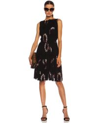 Nina Ricci Printed Silk Chifon Dress - Lyst