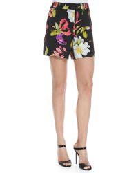 ESCADA - Floral-print Crepe Shorts - Lyst