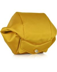 Carven - Satin Clutch Wzipper and Magnetic Fastening - Lyst