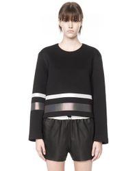 Alexander Wang Scuba Sweatshirt with Reflective Stripes - Lyst