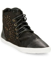 Klub Nico - Simone Suede And Leather High-top Trainers - Lyst