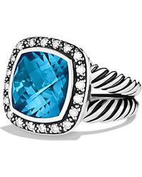 David Yurman Albion Ring With Diamonds, 11Mm Gemstone - Lyst