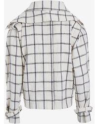 Kaelen - Plaid Trench Jacket - Lyst