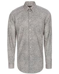 Paul Smith Light Pink And Green 'Leaves' Print Cotton Shirt - Lyst