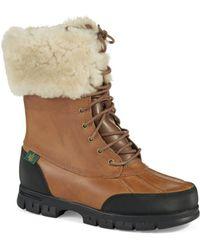 Lauren by Ralph Lauren Quinta Shearling Snow Boots brown - Lyst