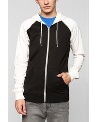 BDG - Raglan Zip-Up Hooded Sweatshirt - Lyst