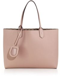 Gucci Reversible Gg Medium Leather Tote pink - Lyst