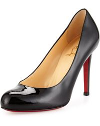 Christian louboutin Decollette Tortoiseshell Red Sole Pump in Red ...