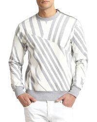 Diesel Black Gold Geo-stripe Zip Sweatshirt - Lyst