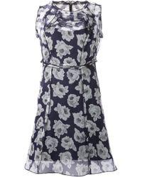 Nina Ricci Rose Print Sheer Dress - Lyst