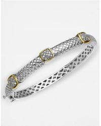 Lord + Taylor 14k Gold And Sterling Silver Diamond Bracelet - Metallic