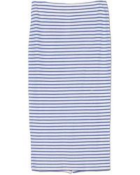 The Lady & The Sailor - Mediterranean Stripe Knit Pencil Skirt - Lyst