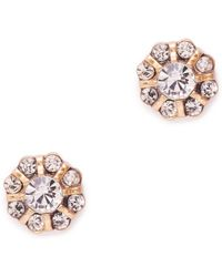 J.Crew Budding Crystal Earrings - Lyst