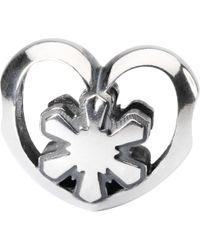 Trollbeads - Sterling Silver Crystal Heart Bead - Lyst