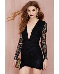 Nasty Gal Reverse Havana Lace Dress - Black - Lyst