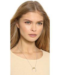 Rachel Zoe - Mia Sphere Crescent Necklace - Gold - Lyst
