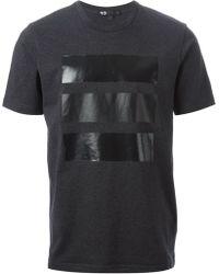 Y-3 Stripe Print Tshirt - Lyst