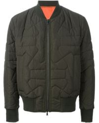 Neil Barrett Quilted Bomber Jacket - Lyst