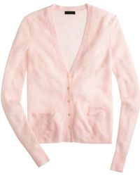 J.Crew Collection Featherweight Cashmere Waffle Cardigan Sweater - Lyst