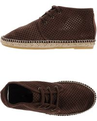 Espadrilles boots flat boots ankle boots - Lyst