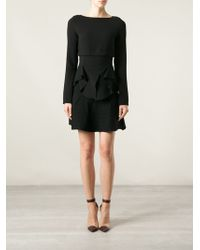 Antonio Berardi Asymmetric Frilled Top - Lyst