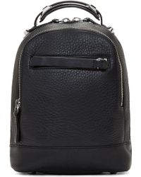 Mackage - Black Leather Small Croydon Backpack - Lyst