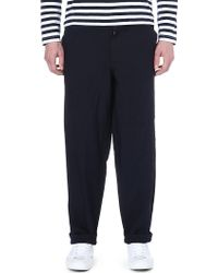 Comme Des Garçons Dropped Crotch Twill Trousers - Lyst
