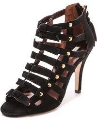 Twelfth Street Cynthia Vincent - Sadie Cutout Sandals - Black - Lyst