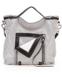She + Lo 'let It Ride' Convertible Leather Tote - Gray
