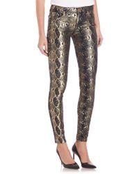 True Religion | Halle Snake Print Skinny Jeans | Lyst