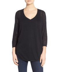Gibson | V-neck Knit Tunic | Lyst