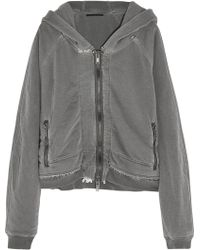 Haider Ackermann Reversible Cottonjersey Hooded Top - Lyst