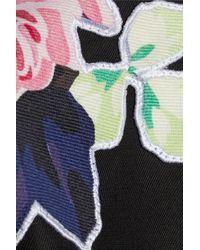 Carven Floral-appliquãd Cotton-twill Jacket - Lyst