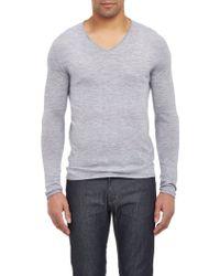 Barneys New York Cashmere V-Neck Sweater - Lyst