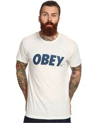 Obey Font Triblend Tee - Lyst