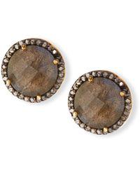 Margo Morrison - Faceted Labradorite & Diamond Earrings - Lyst