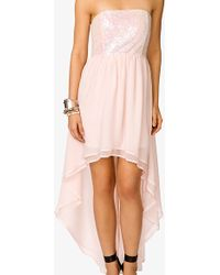 Forever 21 Sequined High Low Dress - Lyst