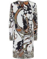 Emilio Pucci Studded Silk Tunic Dress - Lyst