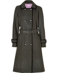 Olympia Le-Tan Wool Gretchen Trench Coat  - Lyst