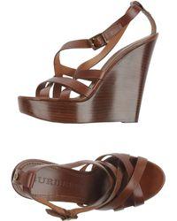 Burberry London Sandals - Lyst
