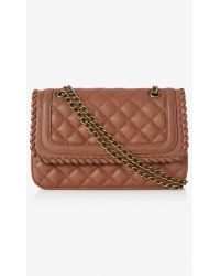Express Whipstitch Quilted Chain Strap Shoulder Bag - Lyst
