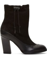 Rag & Bone Black Leather and Suede Holt Boots - Lyst
