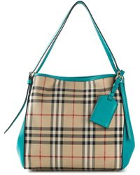 Burberry Horseferry Check Tote - Lyst