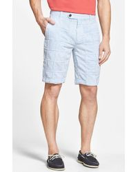 Brooks Brothers Patchwork Seersucker Shorts blue - Lyst