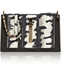 Tamara Mellon - Attraction Painted Elaphe And Suede Shoulder Bag - Lyst